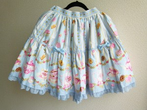 wonder party skirt blue 1