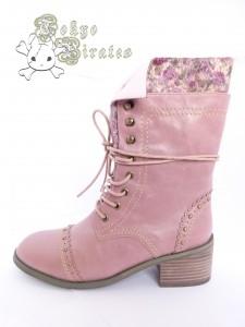 Queen bee boots pink 1