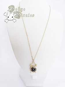 alarm clock necklace - gold 1