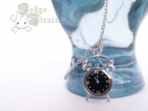 alarm clock necklace - silver 7