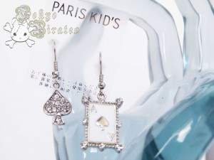 card earrings - silver 3