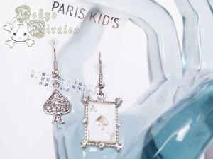 card earrings - silver 3