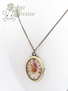clock floral necklace 1
