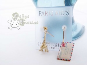 eiffel tower envelope earrings gold 2