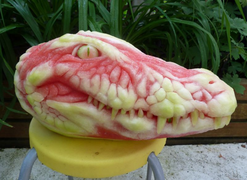 Alligator-Watermelon-Carving