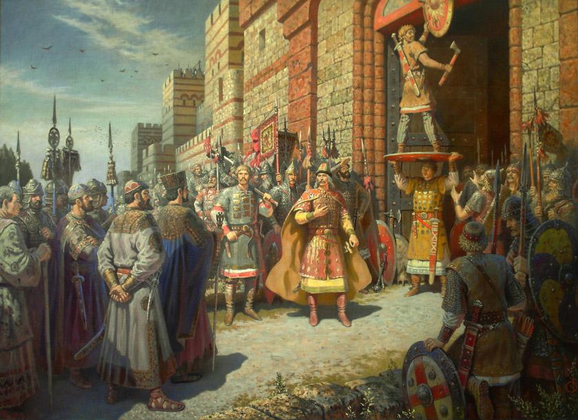 Картинки по запросу князь олег прибил щит ворота константинополя