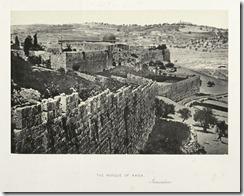 Вид на стены старого города. На заднем плане мечеть Эль Акса и Елеонская гора