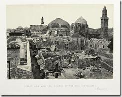 Вид на Храм Гроба Господня с восточной стороны