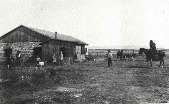 Будущая улица Вайцман в Кфар-Сабе, 1925й год