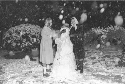 Снегопад в Тель-Авиве
