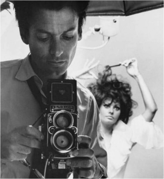 Photographer Richard Avedon and Sophia Loren