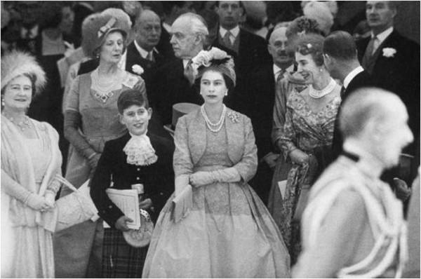 Prince Charles and Elizabeth II