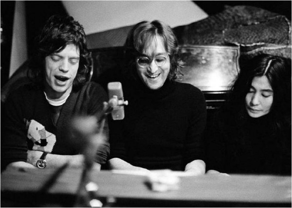 John Lennon, Yoko and Mick Jagger