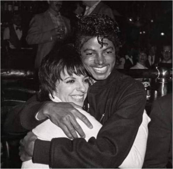 Michael Jackson and Liza Minnelli