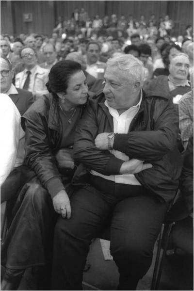 Arik et Lily Sharon ˆ Tel-Aviv lors de la  Convention du Herout, le 10 mars 1986