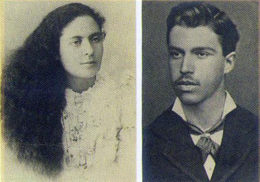 Мориц и Люба в день свадьбы