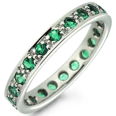 кольцо изумрудное