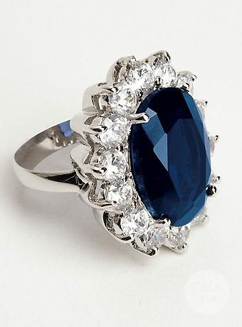 кольцо сапфировое
