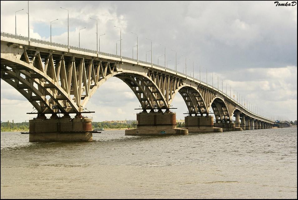 Мост через волгу г саратов фото программу показом