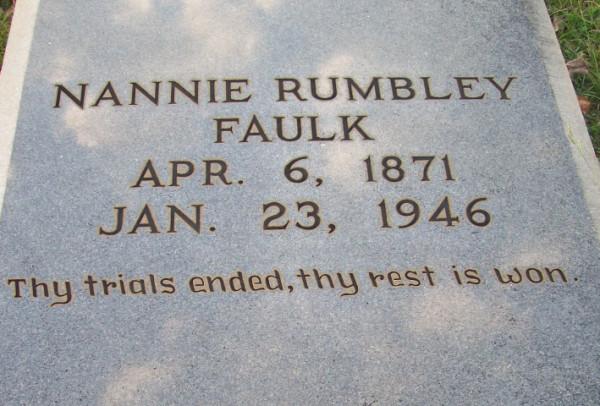 Nanny Faulk tomb