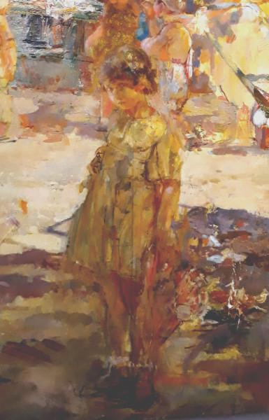 А.Савинов_В парке культуры, 1940. Девочка