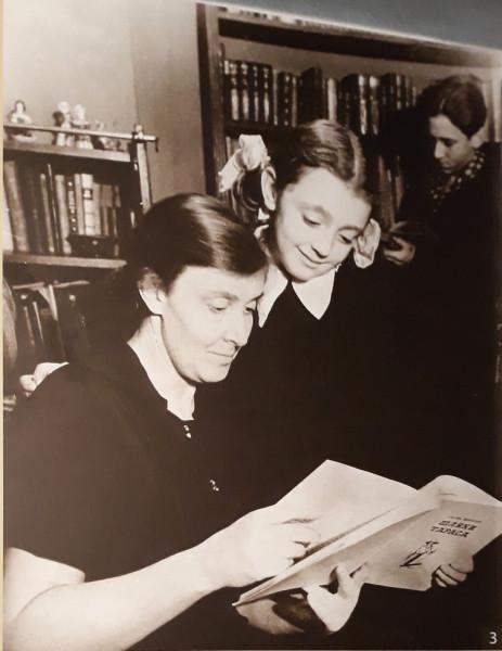 Богаевская с дочерью Натальей и сыном Дмитрием. 1950-е