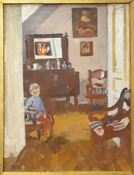 Богаевская_Ребенок в интерьере, 1975