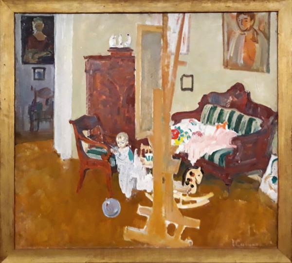 Г.Савинов_Ребенок в мастерской, 1969
