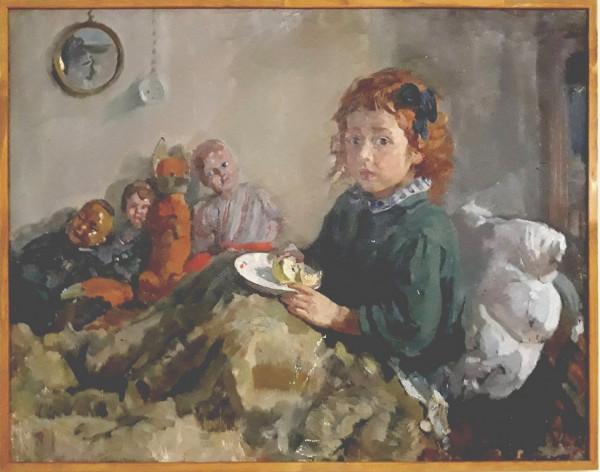 Глеб Савинов_Тата и куклы, 1950