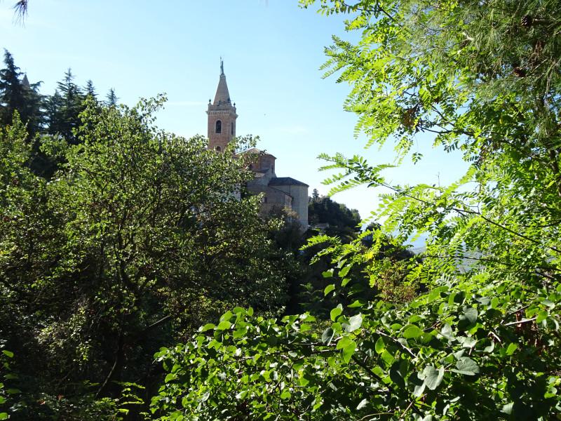 Церковь сквозь листву