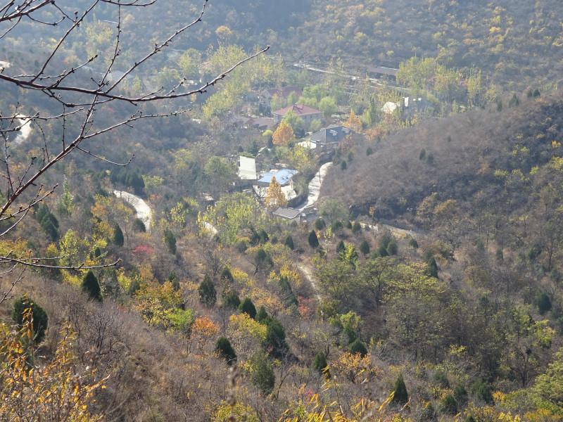 Живописные домики, вид сверху