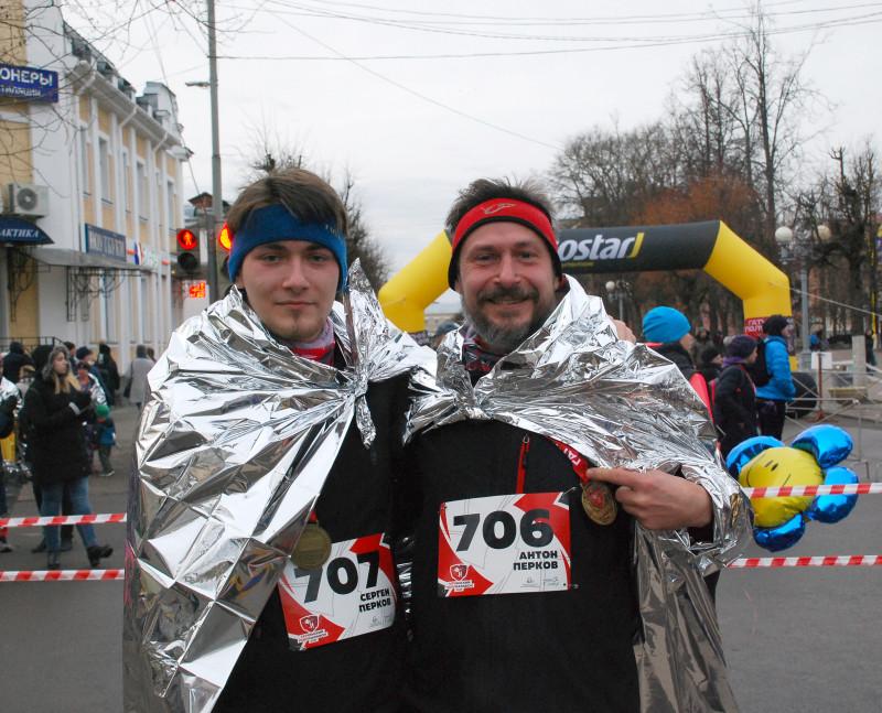 Мы с Серегой после финиша