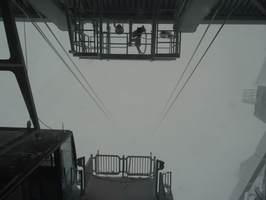 Вид на канатку с вершины