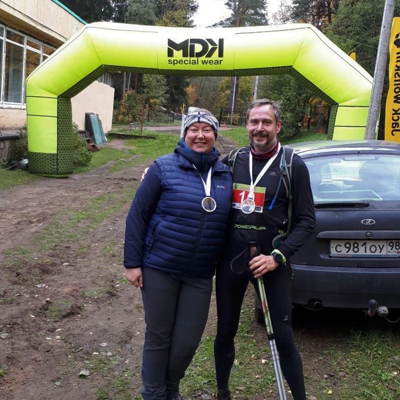 Мы с Машкой на финише
