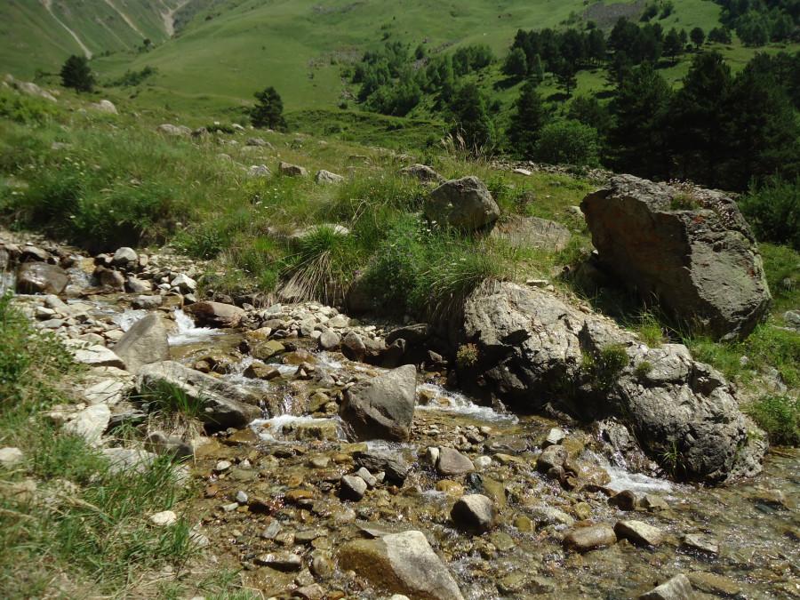 Приток с чистой водой