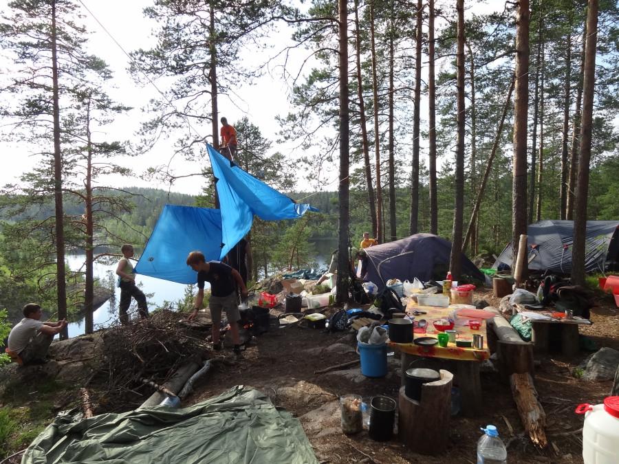 Постановка лагеря