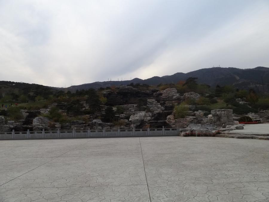 Вид на парк от входа