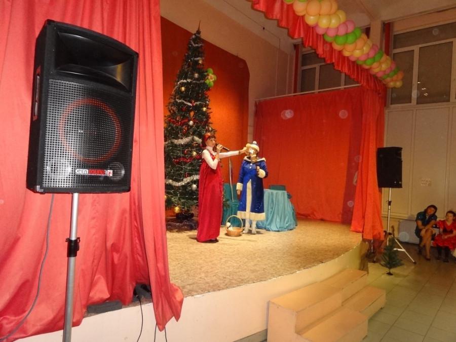 Снегурочка с Василисой у елки