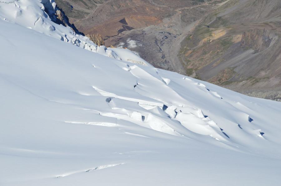 Недружелюбный ледник. Вид с вершины