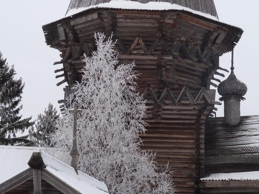 Рождественская церковь в Гимреке. Восьмерик на четверике.