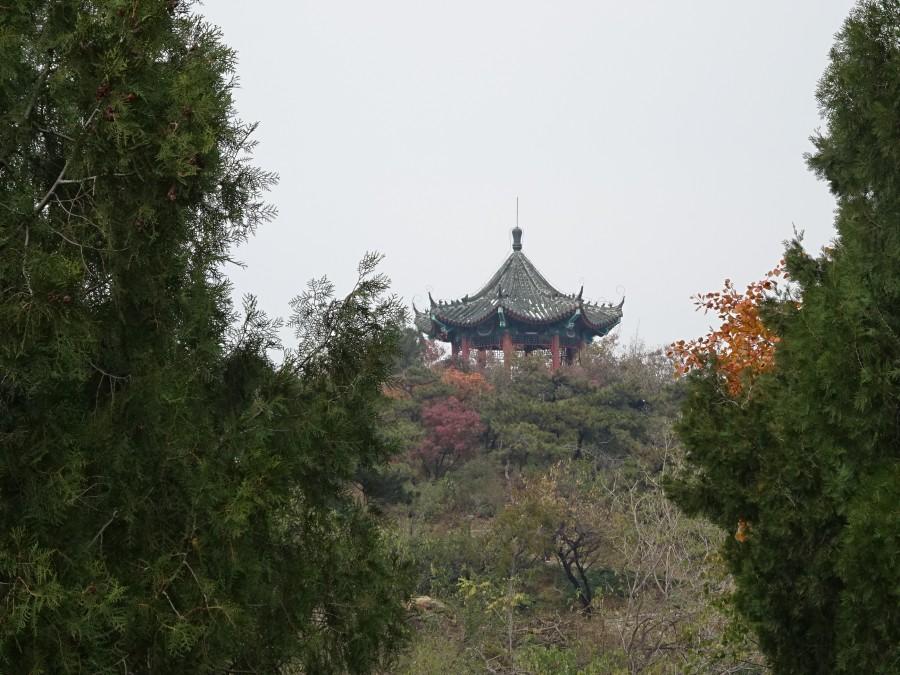 Пагода со стороны и снизу