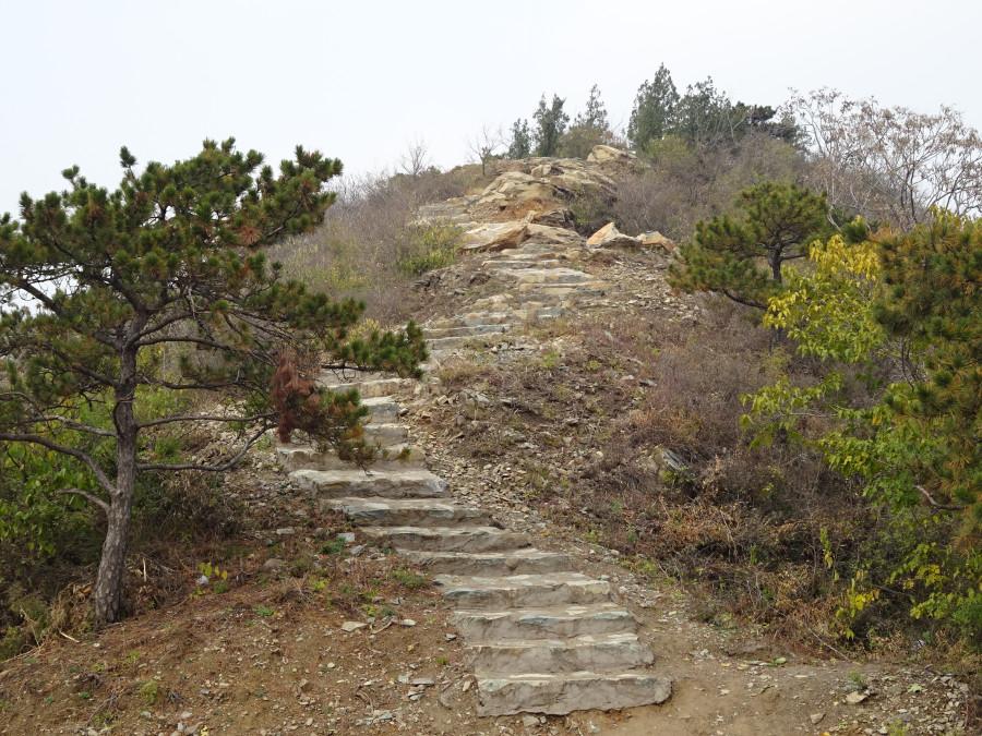 Лестница перед спуском в город
