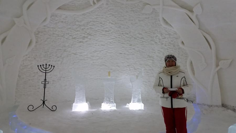 Машка у снежной кафедры