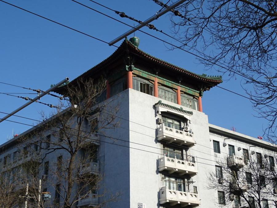 Пагода на обычном доме