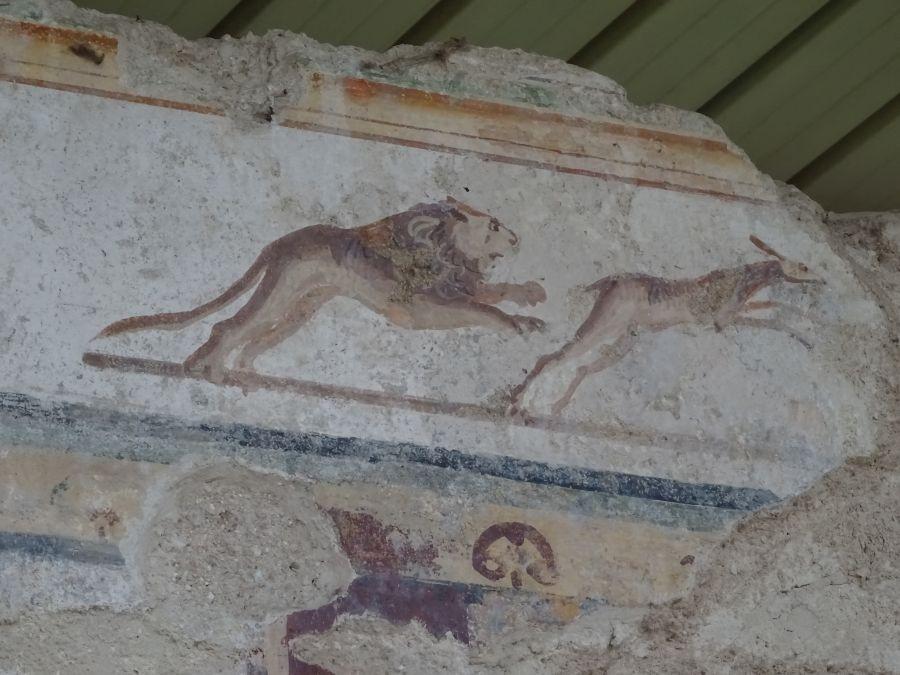 Урбс Сальвия - фреска крупным планом.