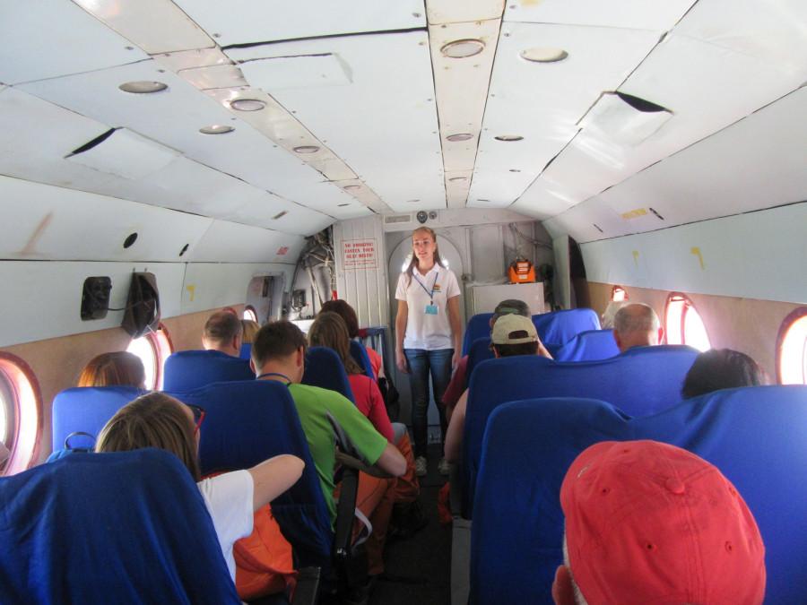 Экскурсовод в вертолете