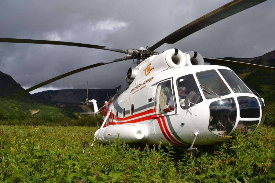 Долина - вертолет сел