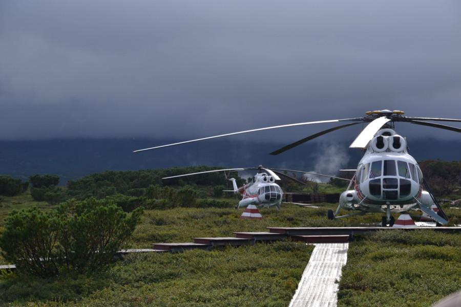 Кальдера - вертолеты