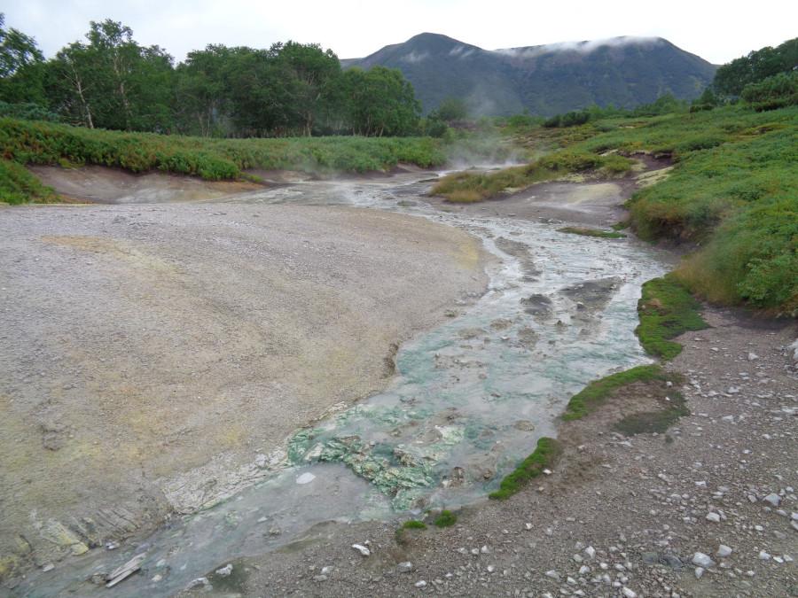 Кальдера - зеленые отложения