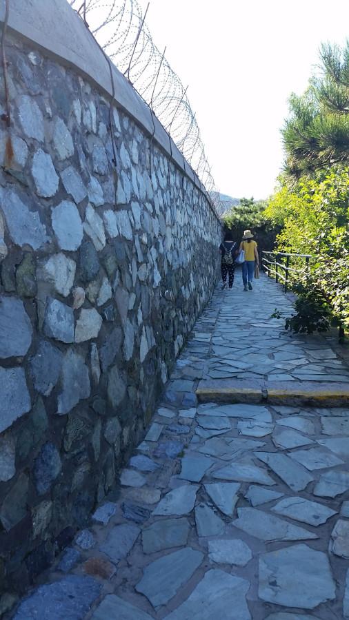 Стена с колючей провлокой